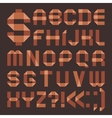 Font from brownish scotch tape - roman alphabet vector