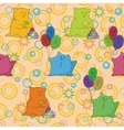 Seamless cartoon toy animals vector