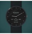 Smartwatch mockup - weather vector