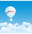 With air balloons vector