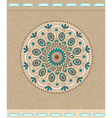 Vintage background with oriental ornaments and rib vector