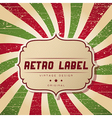 Retro styled background vector