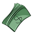Set of money bills vector