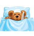 Sick baby bear vector