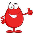 Red easter egg cartoon character showing thumbs up vector