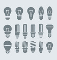 Bulb icon set vector