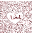 Pink heart background for valentine day vector