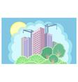 Sun city is under construction vector