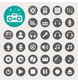 Music icon set eps10 vector