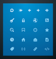 Universal glyphs 7 web icons vector