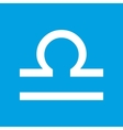 Libra white icon vector