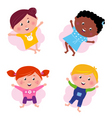 Multi cultural kids vector