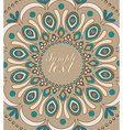 Vintage background with oriental ornaments vector