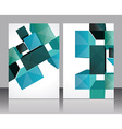 Set banners with 3d cubes background - vector