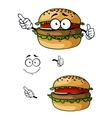 Cartoon hamburger character vector