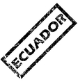 Equador stamp vector