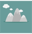 Mountain and clouds template flat design style vector