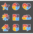 Puzzle objects vector