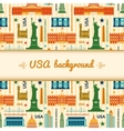 Landmarks of united states of america background vector