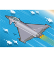 Isometric eurofighter in flight vector