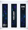 Set of three banners with abstract cosmic vector