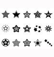 Stars icon collection vector