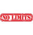No limits stamp vector