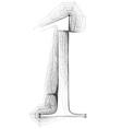 Sketch font number 1 vector