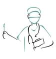 Preparing to surgery vector