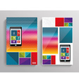 Brochure template design with smart phone vector
