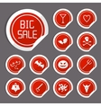 Halloween sale stickers vector