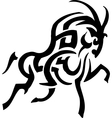 Antelope in tribal style - vector