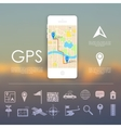 Gps navigation concept vector