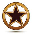 Refined black star emblem with golden outline 3d vector