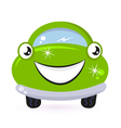 Eco green car vector