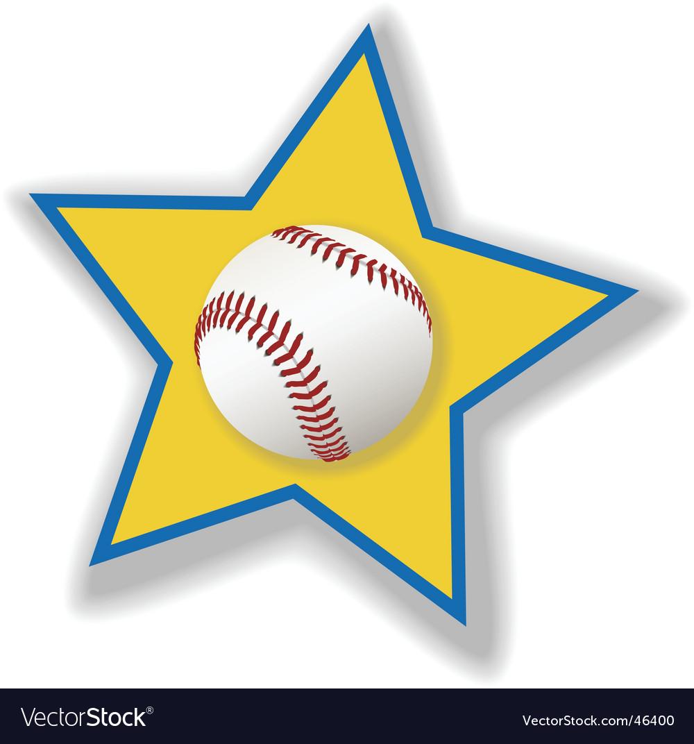 All star baseball or softball vector | Price: 1 Credit (USD $1)