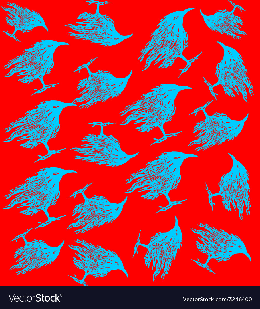 Birds pattern vector | Price: 1 Credit (USD $1)