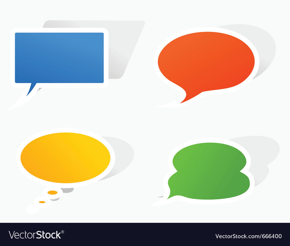 Clouds for conversation vector | Price: 1 Credit (USD $1)