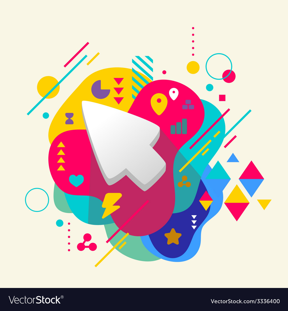 Cursor on abstract colorful spotted background vector | Price: 3 Credit (USD $3)