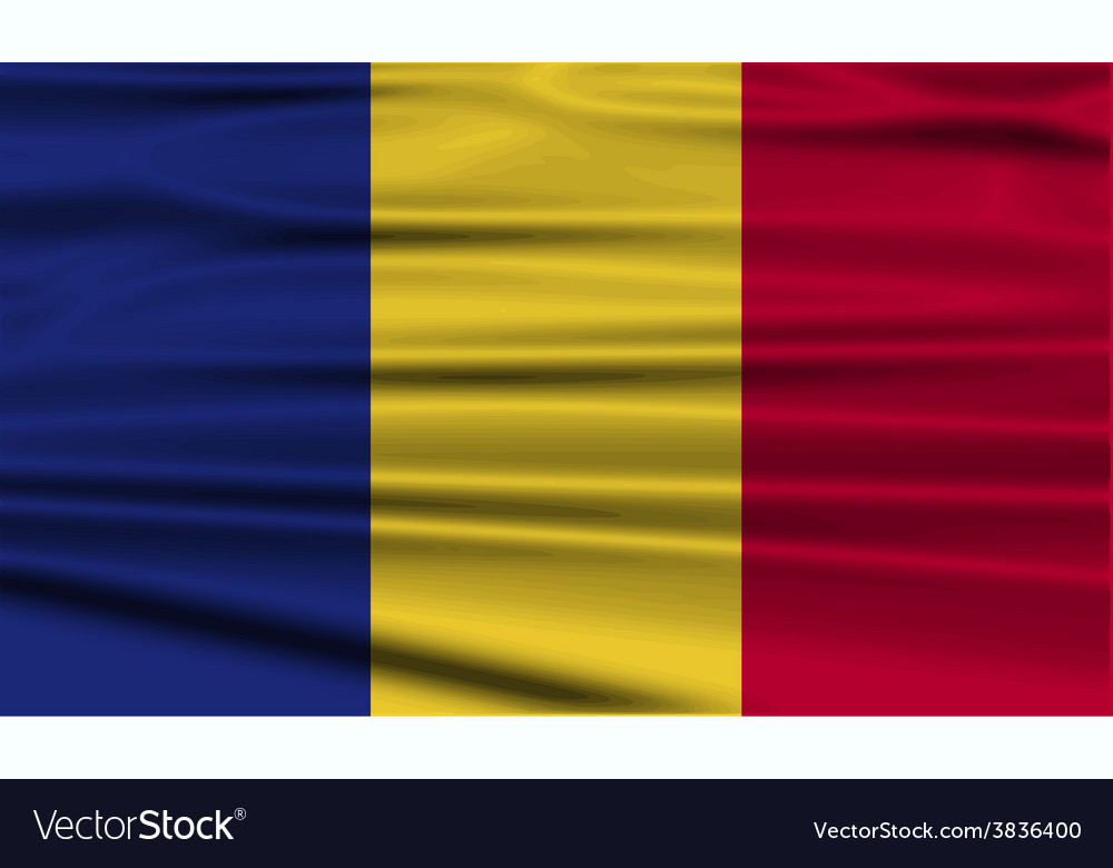 Flag of romania with old texture vector | Price: 1 Credit (USD $1)