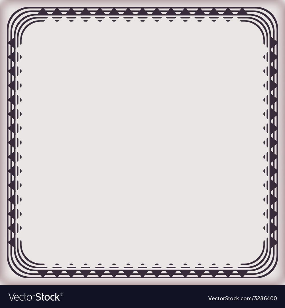 Frame vintage pattern geometric vector | Price: 1 Credit (USD $1)