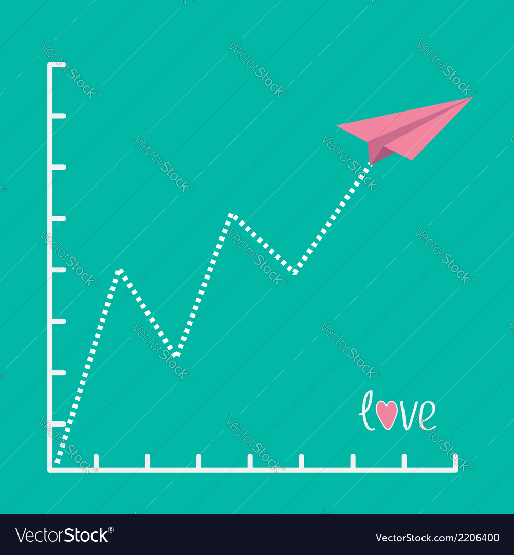 Origami pink paper plane and zigzag scale love vector | Price: 1 Credit (USD $1)