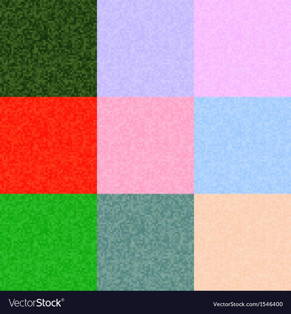 Pixel backgrounds set of different colors vector | Price: 1 Credit (USD $1)