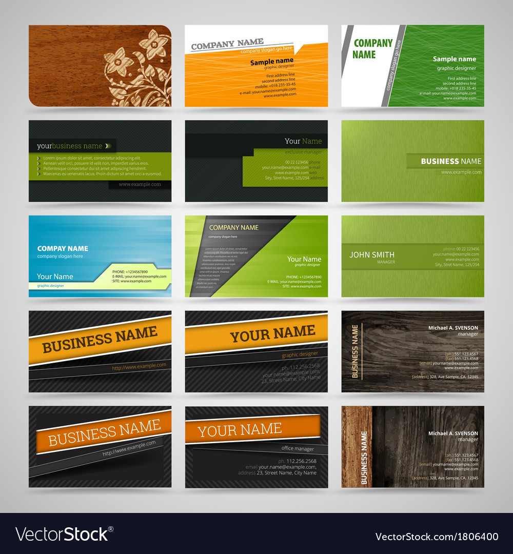 Set of business cards8 vector | Price: 1 Credit (USD $1)