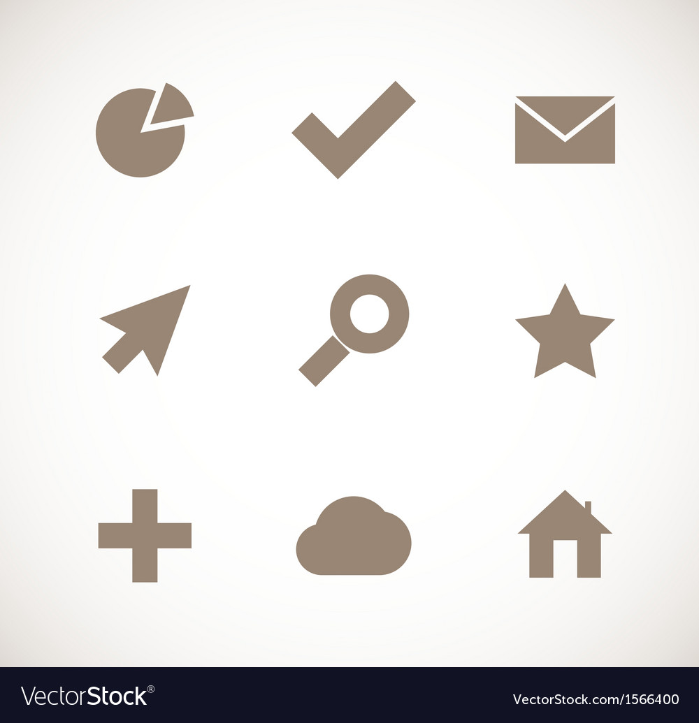 Set of universal icons vector | Price: 1 Credit (USD $1)