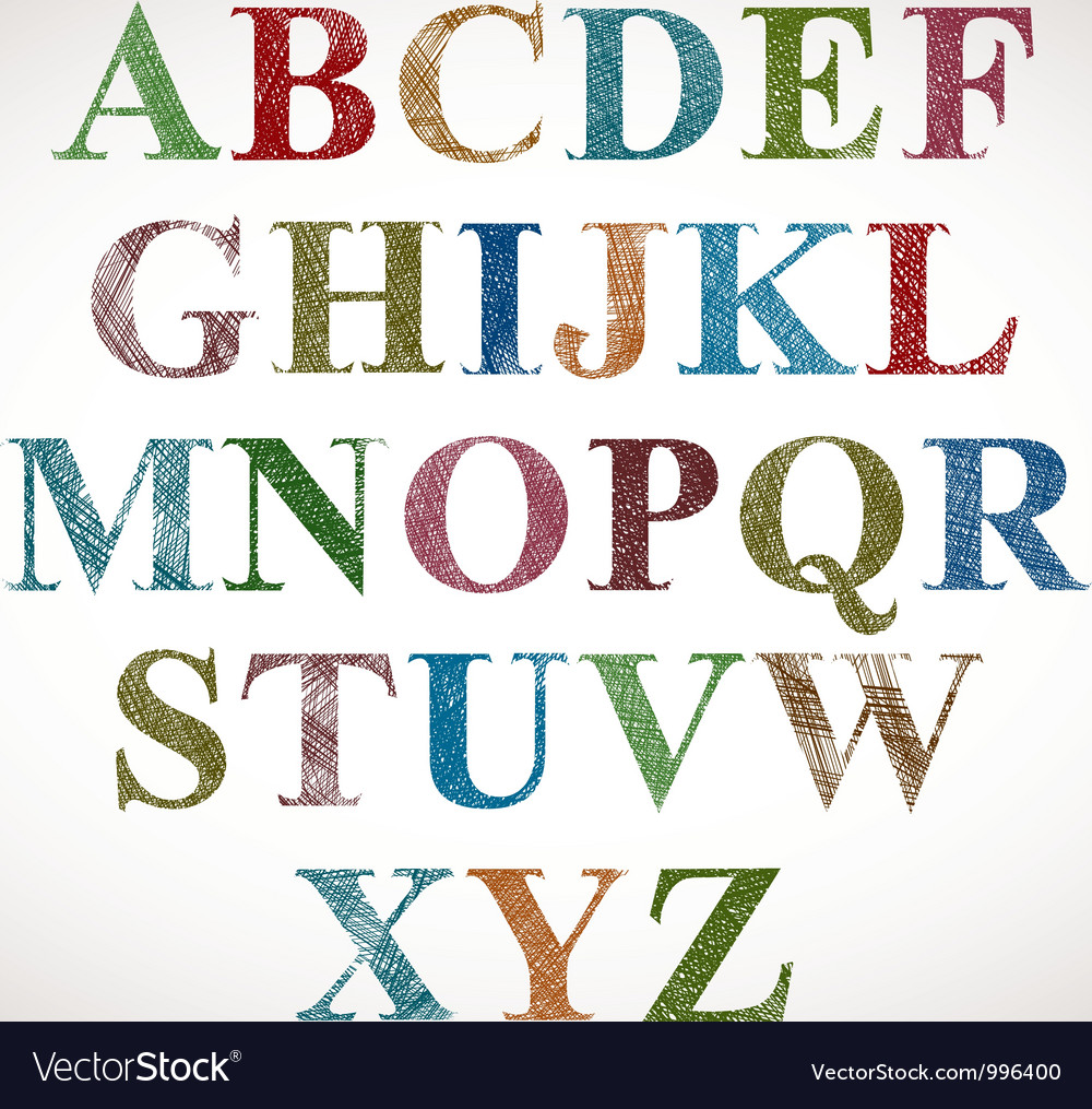 Vintage style alphabet vector | Price: 1 Credit (USD $1)