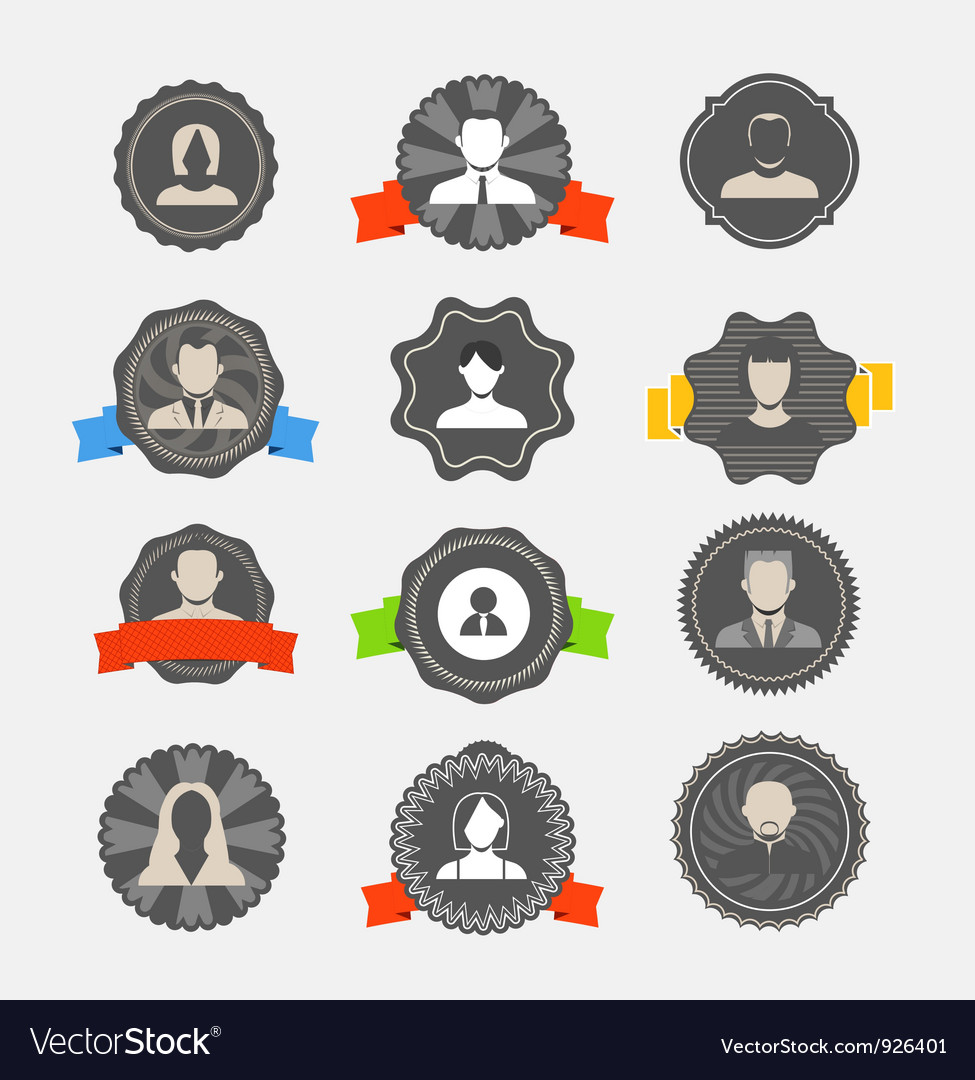 Avater icons vector | Price: 1 Credit (USD $1)