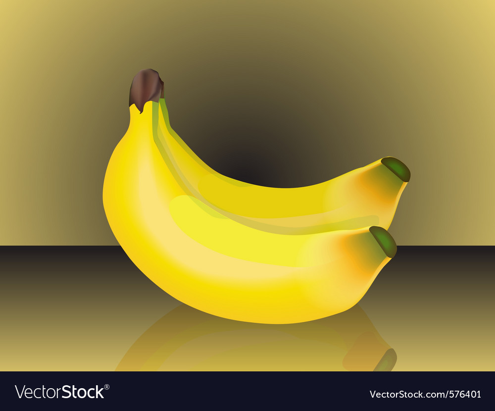 Bunch of bananas vector | Price: 1 Credit (USD $1)