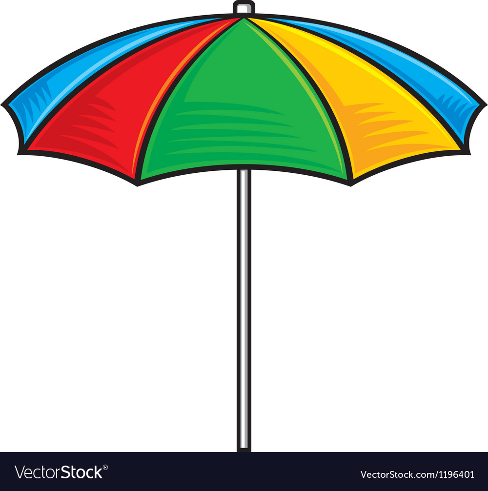 Colorful beach umbrella vector | Price: 1 Credit (USD $1)