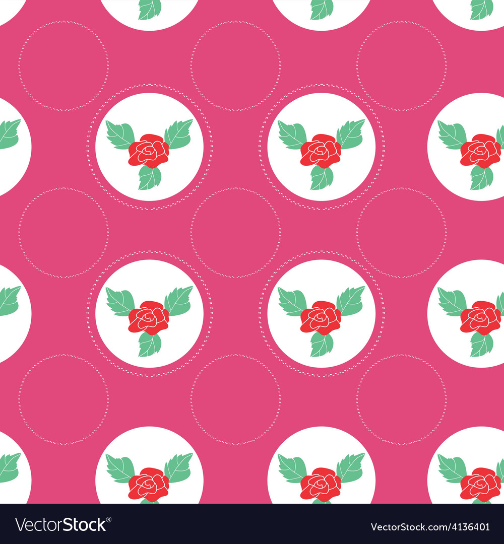 Floral pattern with roses on light background vector | Price: 1 Credit (USD $1)